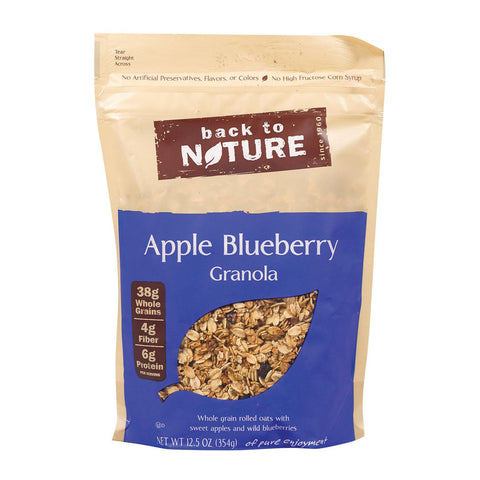 Back To Nature Granola - Apple Blueberry - Case Of 6 - 12.5 Oz.