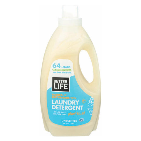 Better Life Laundry Detergent - Unscented - Case Of 4 - 64 Fl Oz