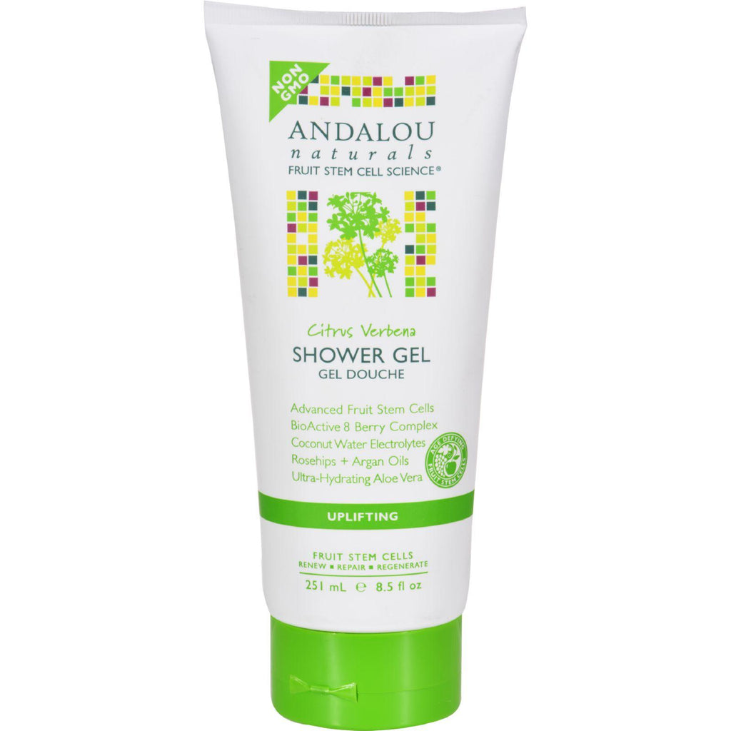 Andalou Naturals Shower Gel - Citrus Verbena Uplifting - 8.5 Fl Oz