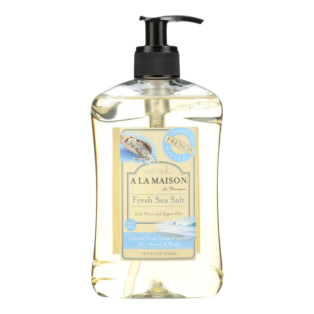 A La Maison French Liquid Soap - Fresh Sea Salt - 16.9 Oz