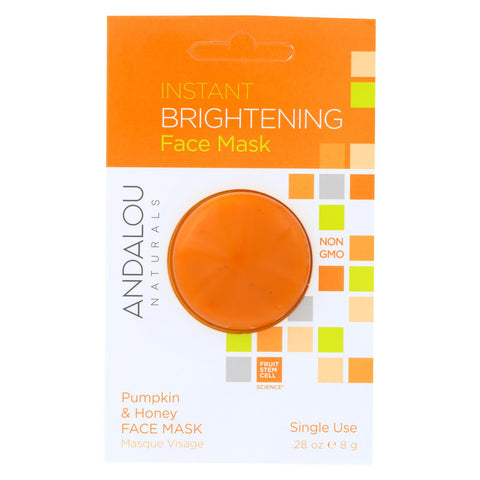 Andalou Naturals Instant Brightening Face Mask - Pumpkin & Honey - Case Of 6 - 0.28 Oz