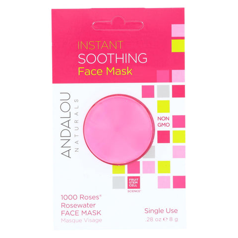 Andalou Naturals Instant Soothing Face Mask - 1000 Roses Rosewater - Case Of 6 - 0.28 Oz