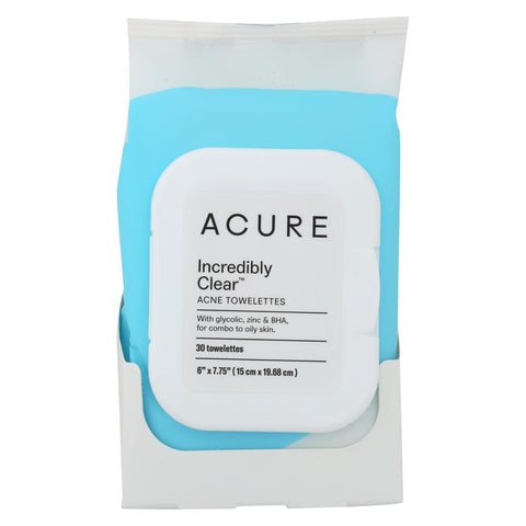 Acure Towelettes - Clarifyng Acne - 30 Count