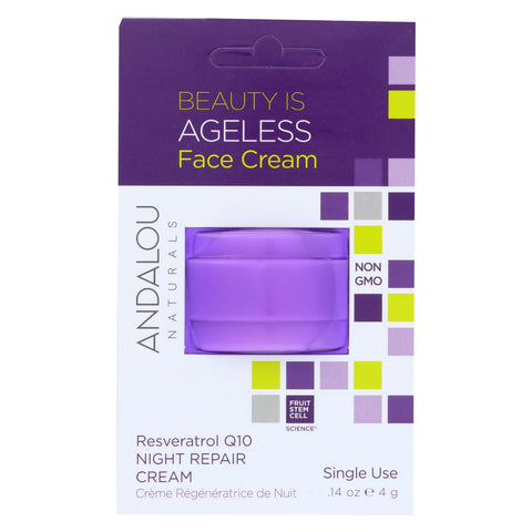 Andalou Naturals Face Cream - Ageless - Pod - Case Of 6 - .14 Oz