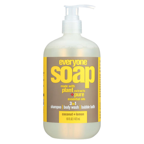 Everyone Soap - 3 In 1 - Coconut - Lemon - 16 Fl Oz