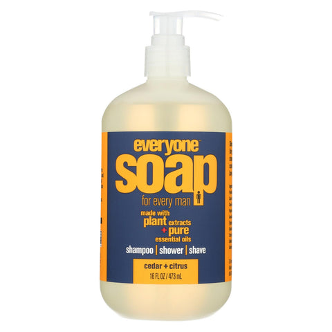 Everyone Soap - 3 In 1 - Men - Citrus - Cedar - 16 Fl Oz