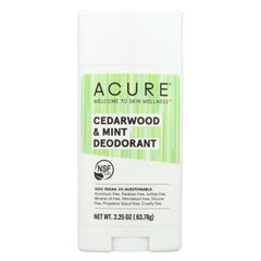 Acure - Deodorant Cedarwood And Mint - 2.25 Oz
