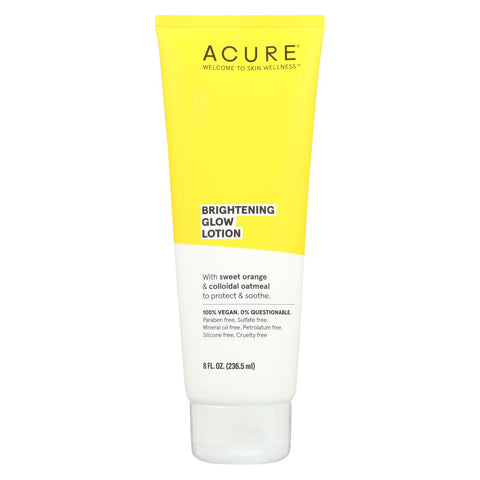 Acure - Lotion - Brightening Glow Moisture - Sweet Orange And Oatmeal - 8 Fl Oz.