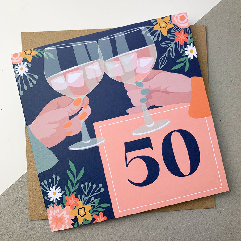 50th birthday card - cheers