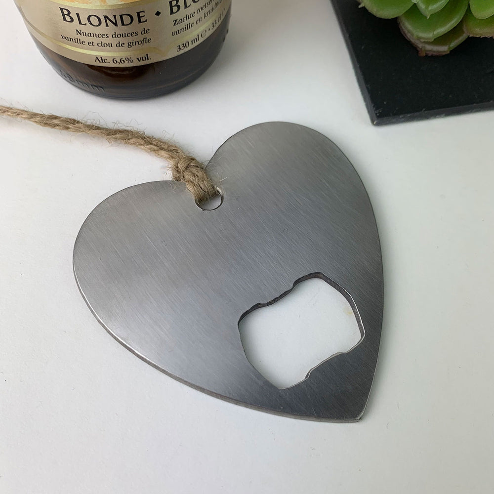 Heart bottle opener