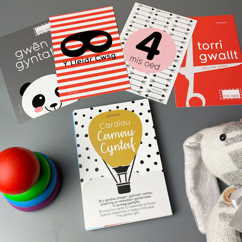 Welsh baby milestone cards