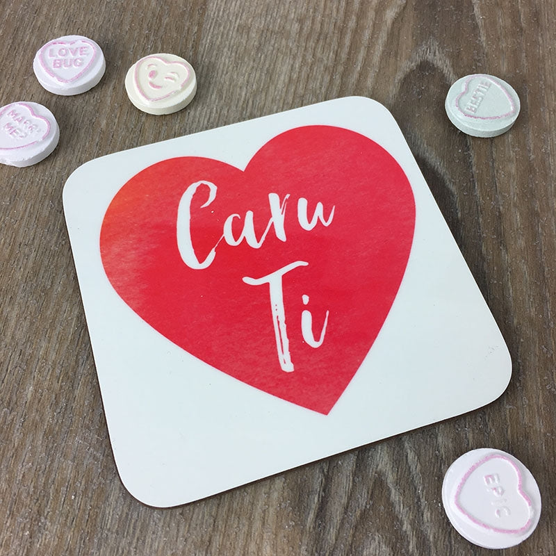 Welsh 'love you' coaster