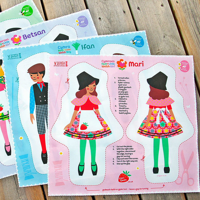 Cut and sew your own doll - Mari