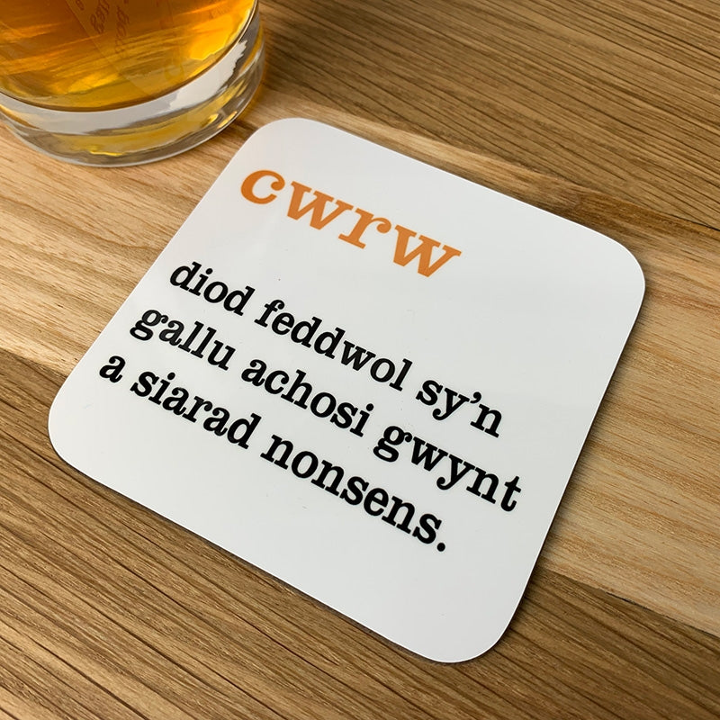 Welsh definition coaster - cwrw