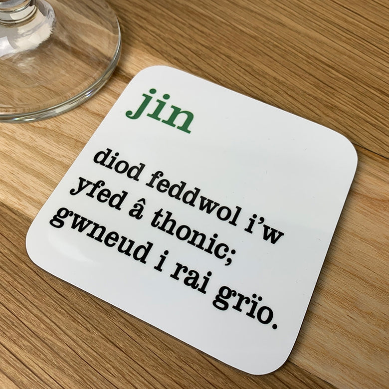 Welsh definition coaster - jin