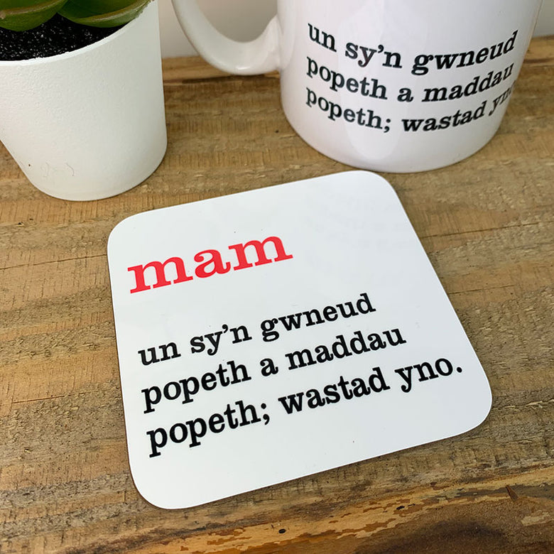 Welsh definition coaster - mam