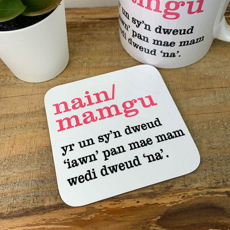Welsh definition coaster - nain/mamgu