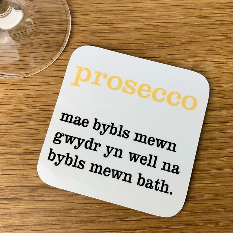 Welsh definition coaster - prosecco