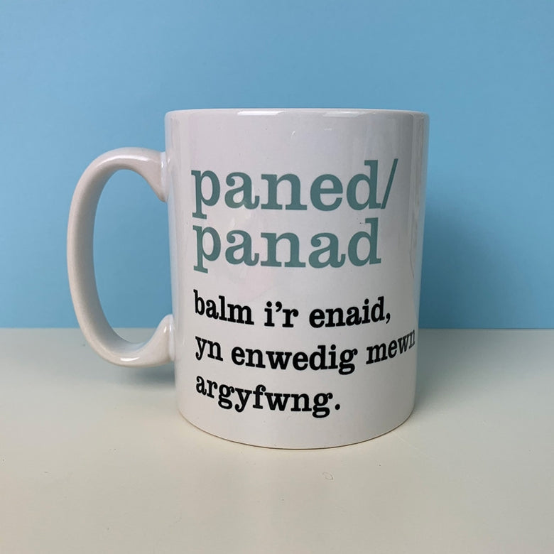 Welsh definition mug - paned/panad