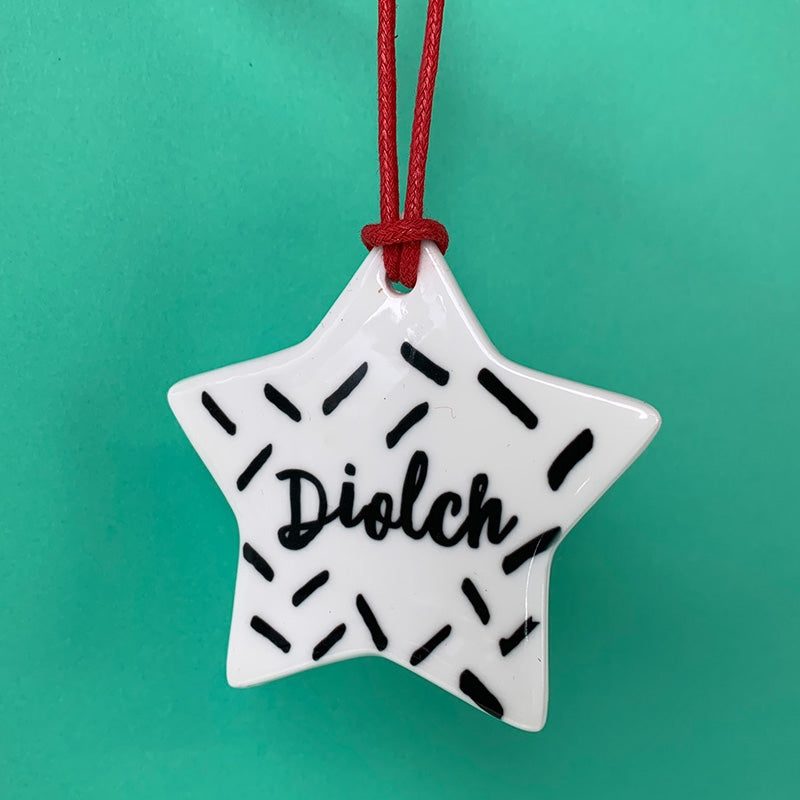 Diolch decoration - mono