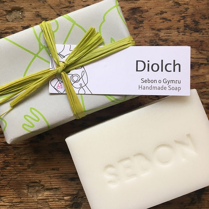 'Diolch' thank you soap