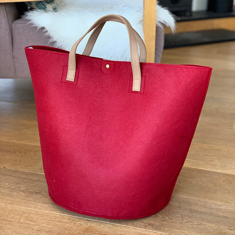 Felt storage bag - red