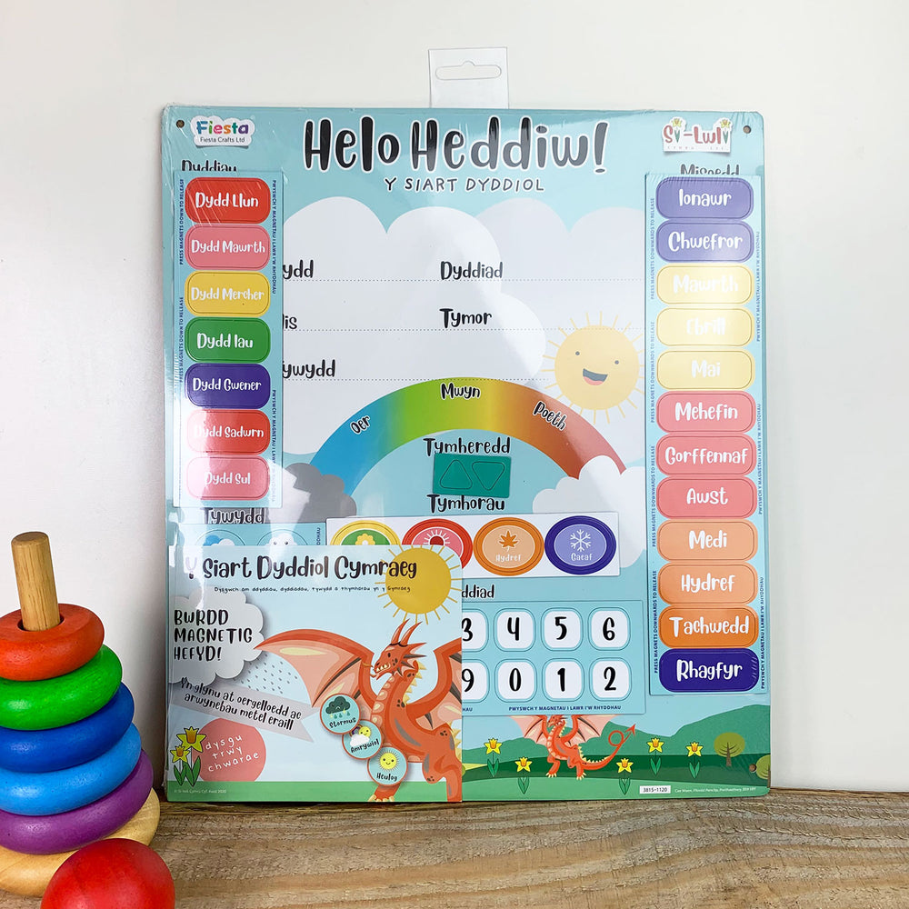 Helo Heddiw daily magnetic calendar