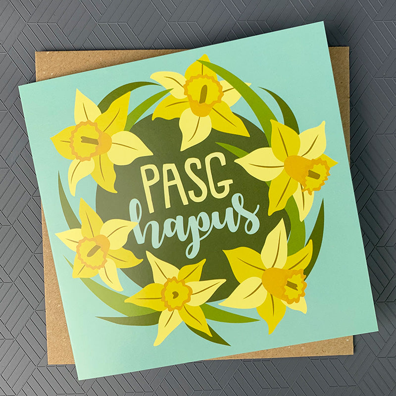Pasg Hapus Welsh Easter card