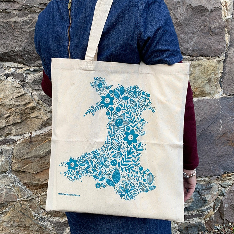 Wales in Bloom tote bag