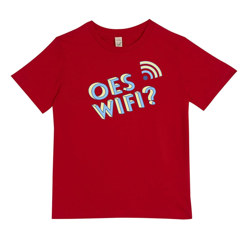 Oes wifi? t-shirt - red