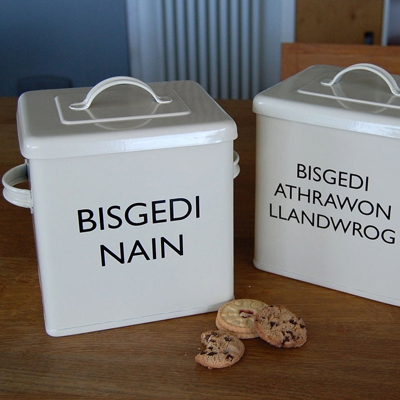 Personalised biscuit tin