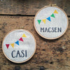 Personalised boys' embroidery hoop