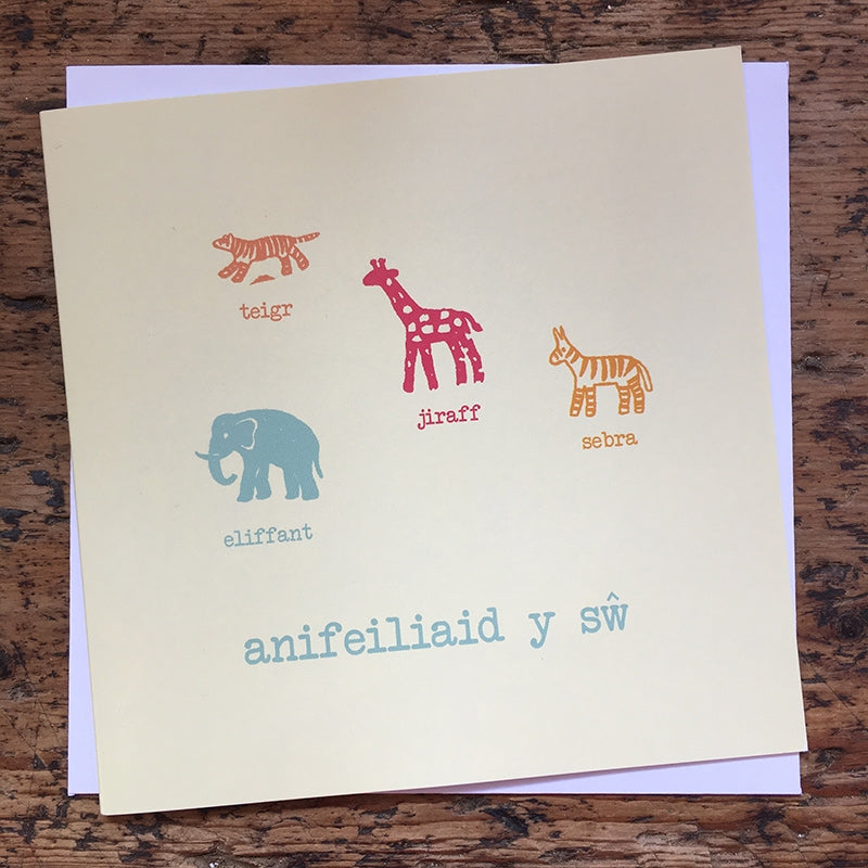 Welsh animal notelets - pack of 12
