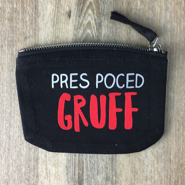 Personalised pocket money purse - black