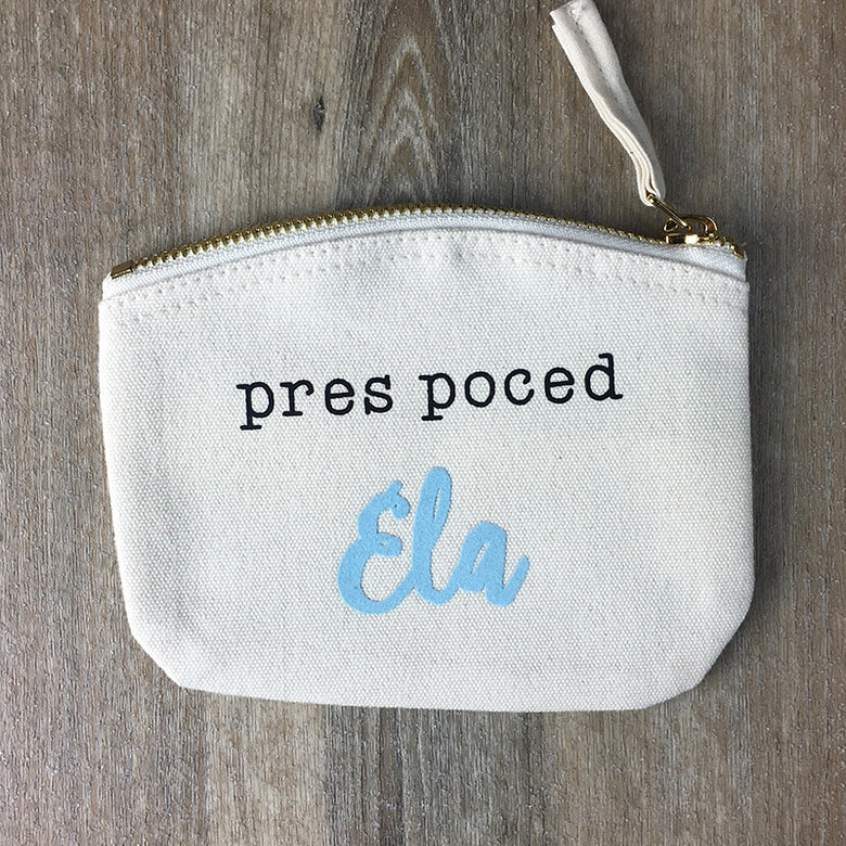 Personalised pocket money purse - natural