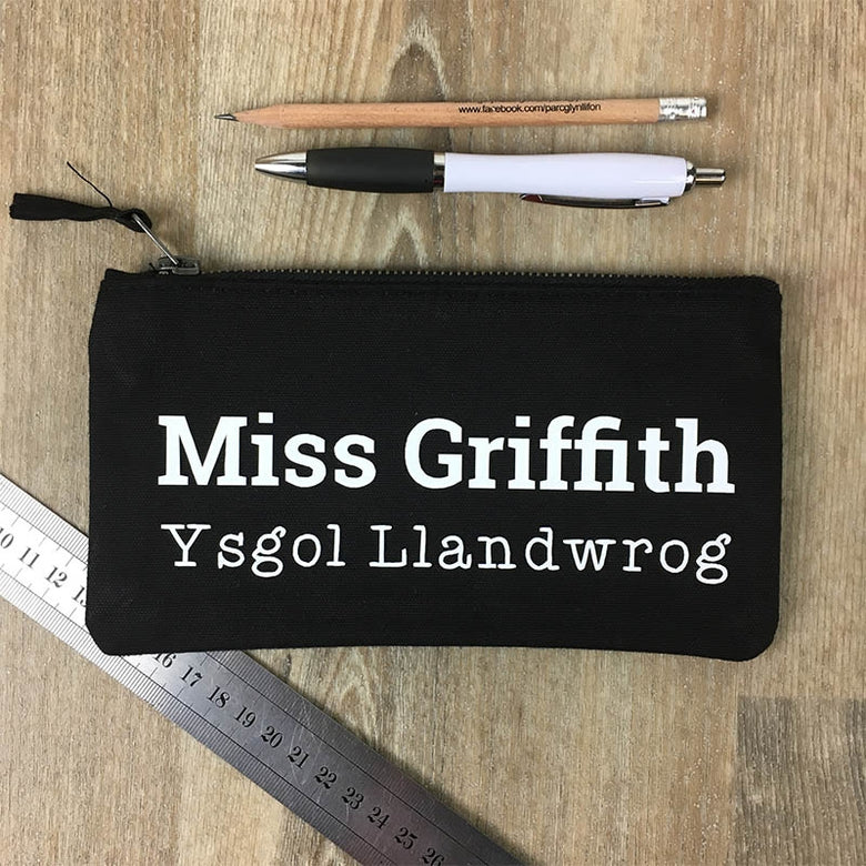 Personalised school and teacher pencil case
