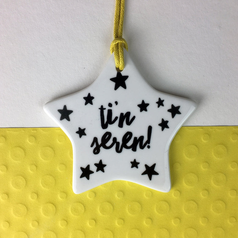 Ti'n seren ceramic star decoration