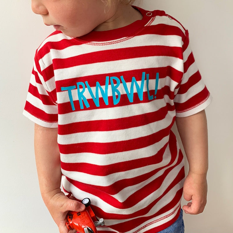 Trwbwl! baby t-shirt - red stripes