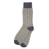 Wave men's socks, grey citrus