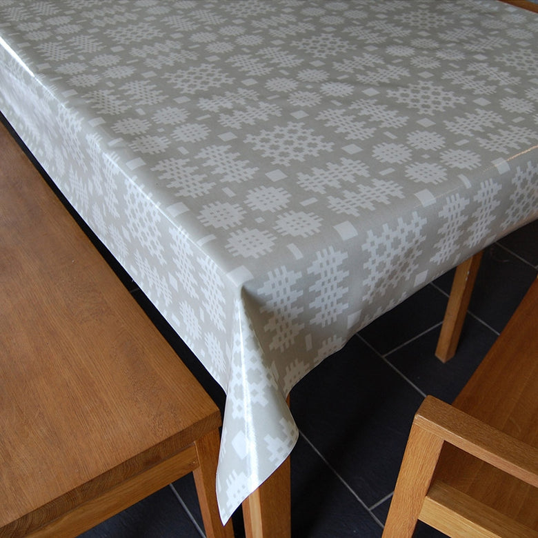 Welsh Blanket Oilcloth, Cream