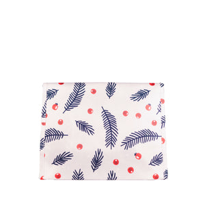 "IRREGULAR - Small berry and tree sprig 9.5"" wide reusable gift bag with magnet closure, heavy duty two layer non woven foldable sustainable eco-friendly gift bag - EverWrap"