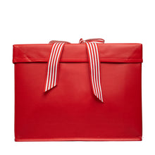 Load image into Gallery viewer, IRREGULAR - Large Red Heavy-Duty Extra Strong Collapsible Gift Box with ribbon attached, great zero waste solution for sustainable and eco-friendly gift boxes - EverWrap