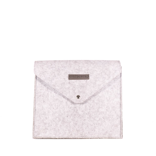 1 Small Grey Felt Reusable Gift Bag with Magnet Closure, High Quality Bag for Maximum Zero-Waste Gift Bag - EverWrap
