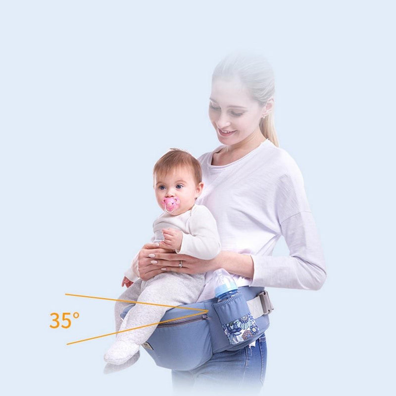 0-48M Ergonomic Baby Carrier Infant Baby Hipseat Carrier Front Facing Ergonomic Kangaroo Baby Wrap Sling for Baby Travel - GoJohnny437