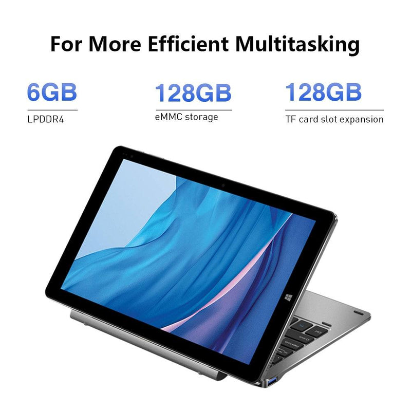 10.1 inch FHD Screen Intel N4100 Quad Core 6GB RAM 128GB ROM Windows Tablets Dual Band 2.4G/5G Wifi - GoJohnny437