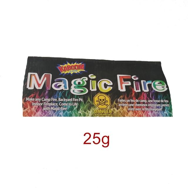 10g/15g/25g Magic Fire Colorful Flames Powder Bonfire Sachets Pyrotechnics Magic Trick Outdoor Camping Hiking Survival Tools - GoJohnny437