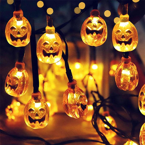 1.5m 10Led Halloween Pumpkin Ghost Skeletons Bat Spider Led Light String Festival Bar Home Party Decor Halloween Ornament - GoJohnny437