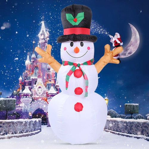 1.6/2.4/2.1M Christmas decoration inflatable Christmas snowman/Nutcracker/Christmas decoration bear with lights decoration - GoJohnny437