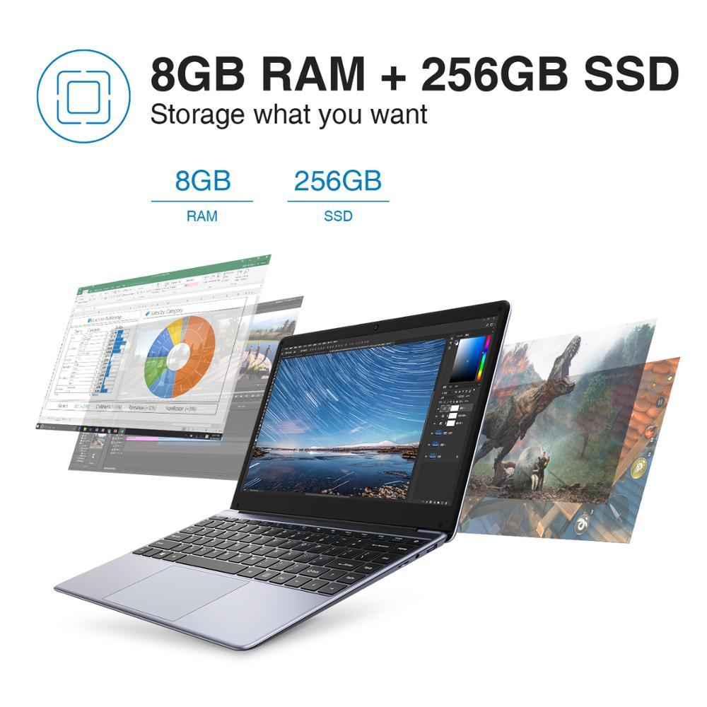 1920*1080 IPS Screen Intel N4000 Processor DDR4 8GB 256GB SSD Windows 10 Laptop - GoJohnny437