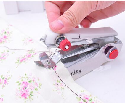 1pc Portable Mini Manual Sewing Machine Simple Operation Sewing Tools Sewing Cloth Fabric Handy Needlework Tool - GoJohnny437